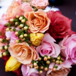 Spring: pinks, yellow, peach, water-mellon