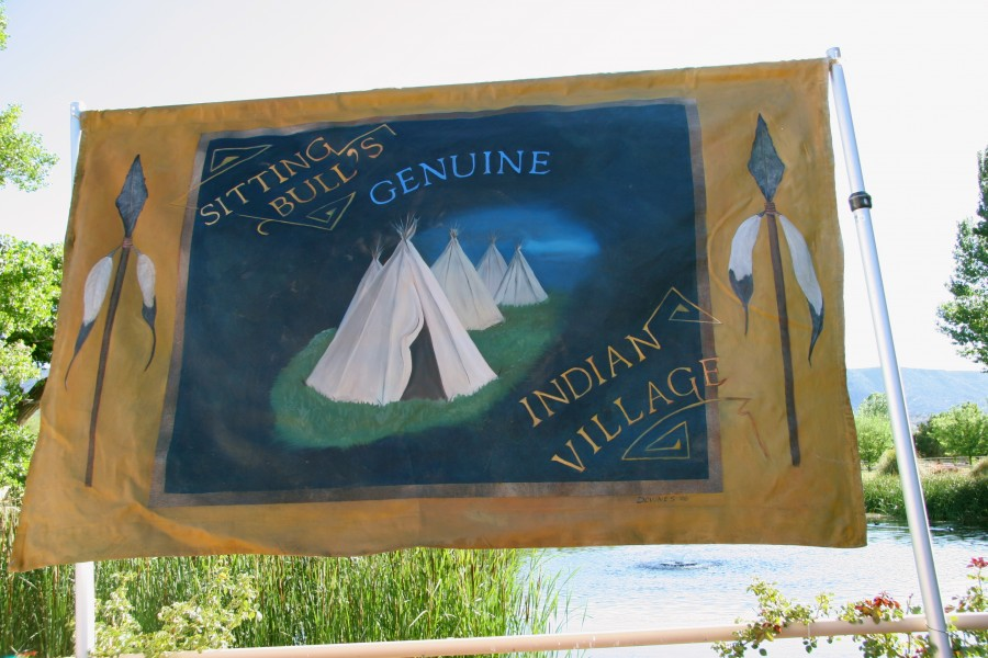 Native American Village, Side Show Banner Prop, Image Provided By Show Stoppers