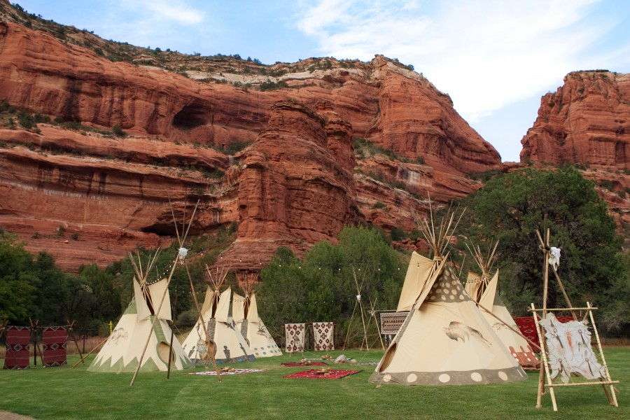 Native American Village, Enchantment Resort Circle, Image by Cameron + Kelly Studios
